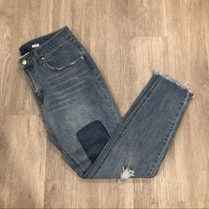For the Republic Patchwork Raw Hem Skinny Jeans 30